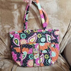 Vera Bradley Tablet Tote Large Work Ziggy Zinnia